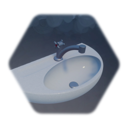 a sink - simple - ein Waschbecken - without pipe