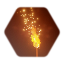 Lit Fire Torch [Light+Sound+Moving Shadow with flames)]