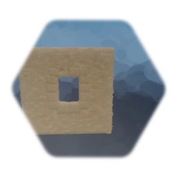 Sandstone Wall With Large Window - 2x2x0,1
