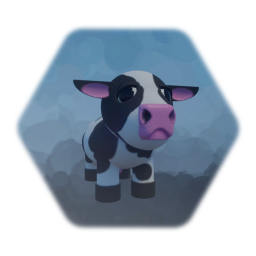 Cow with expressions