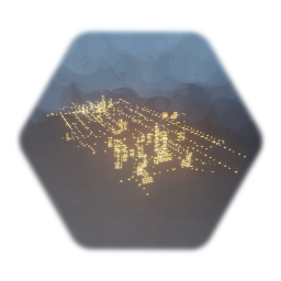 Bigger 3D Animated City Lights Extra buildings added