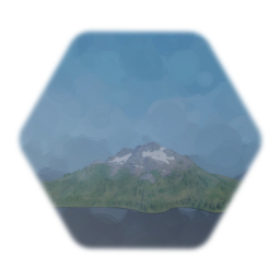 Realistic Background Forested Mountains