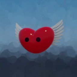 Launch Day Animated Flying Heart