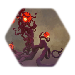 Alien Tentacle Plant With Pulsating Glowing Fruit