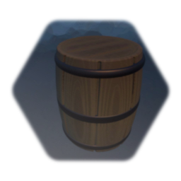 Medieval barrel (sculpted & painted)