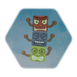 Tiki Stack Wobbly Character - Coloured