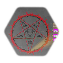 Demonic magic circle with premade effects