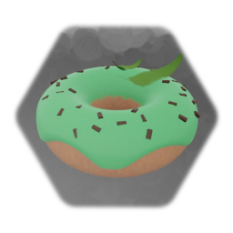 Mint and Chocolate Chip Donut