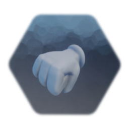 Cartoon glove hand