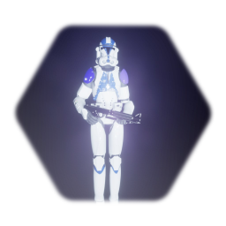 501st clone trooper with weapon