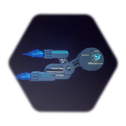 Huge Spaceship (rebuilt in Dreams)
