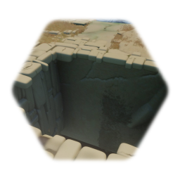 Ruined stone floor section