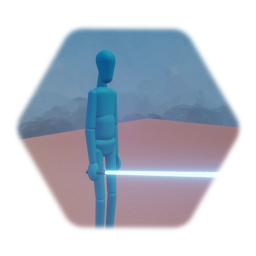 Jedi with Right-stick Controlled Lightsaber