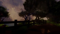 Rainfall on Woodland Path - First Person Scene
