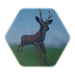 Realistic White-Tail Deer With AI