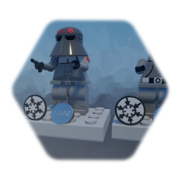 STAR WARS LEGO  MINIFIGURE  DEATH star OFFICER & AT AT officer