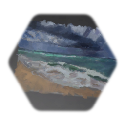 Waves landscape painting