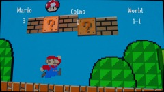 Super mario bros beter 1-1 2D Dreams edition (autoscroll)