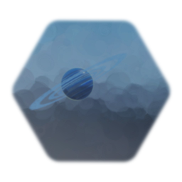 Planet ringed blue