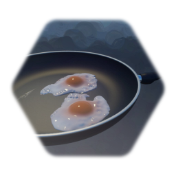 Frying Pan With Eggs
