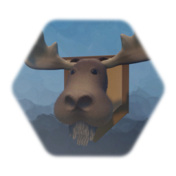 Mounted Moose Head