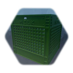 Milk Crate - Green Plastic - (Single Sculpt) (Low Thermo)