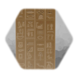 Egyptian Hieroglyph Blocks (1 side)