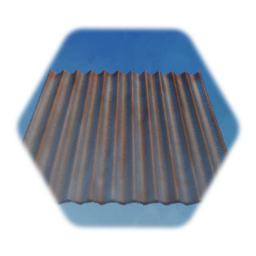 Rusty Corrugated Panel - Painted