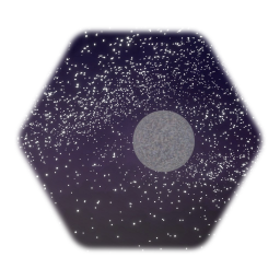 3D Night Sky with Moon :)