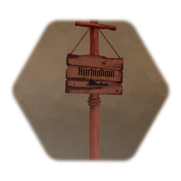 Wooden Sign Post
