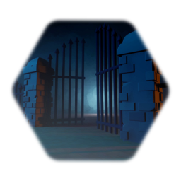 Gothic brick and spear fence