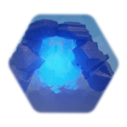 Roughly hewn stone portal