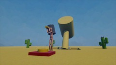 A Button in the Desert [1P minigame]