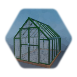 Greenhouse with doors