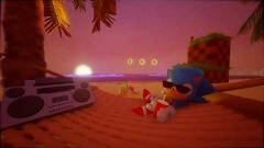 Sonic at The Beach.. and Knuckles