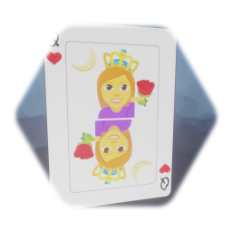 Playing Card - Queen Hearts