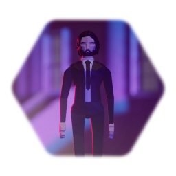 Low poly Jon Wick
