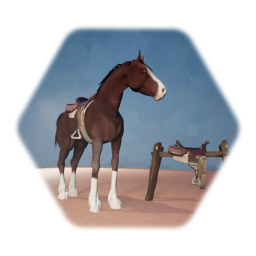 Heavy Breed Horse (Alt version of my animated horse puppet )