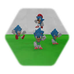 Sonic Puppet [Bare] with more expressions