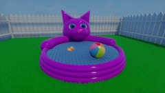 Stupid Kitty Pool with Water Physics