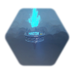 Flying magical torch