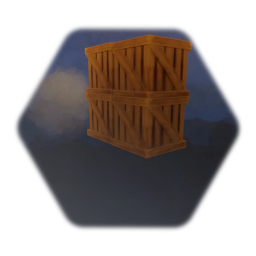Wood Crate Wall