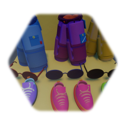 Trainers and shorts sunglass