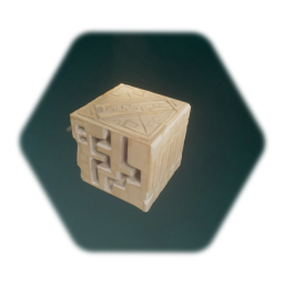 Ancient Temple Decorated Cube