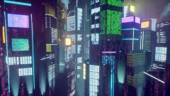 Cyber City At Night