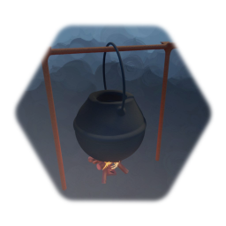 Kettle on a fire low thermo