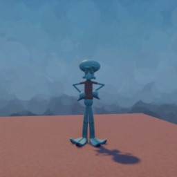 Rigged biped Squidward