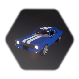 High-Detail Muscle Car