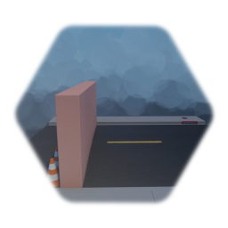 Street Floor/Traffic Cones/Invisible Barrier