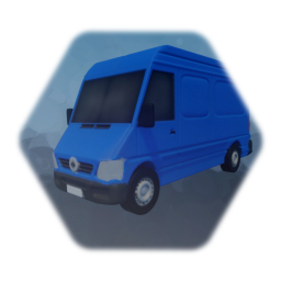 Realistic Low Thermo Delivery Van